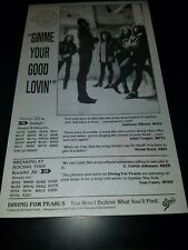 Diving For Pearls Gimmie Your Good Lovin' Rare Radio Promo Poster Ad Framed!