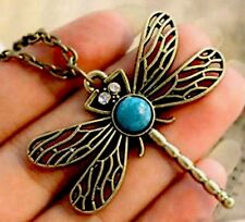 Dragonfly Pendant Necklace ~ bronze ~ NEW