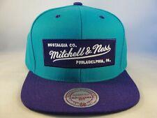 Mitchell & Ness Snapback Hat Cap Teal Purple