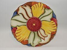 "H J WOOD BURSLEM Flower Plate Art Deco RAISED PATTERN 8 3/4"" C1920s GREAT COND"