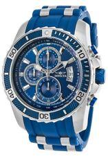 New Mens Invicta 22429 Pro Diver Chronograph Blue Dial Rubber Strap Watch