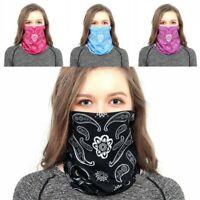 Women Face Mask Cover Tube Paisley Bandana Headband Scarf Gaiter Free Shipping
