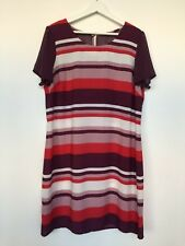 NEXT BNWT, UK size 16 dress, short sleeves, horizontal stripe print, cruise.