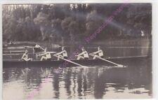 RPPC CARTE PHOTO 57000 METZ AVIRON Rameurs mai 1933
