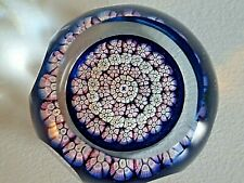 WHITEFRIARS Caithness Concentric Millefiori Faceted Glass Paperweight Butterfly