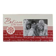 Believe in the Season 3 inch x 4.5 inch MDF Photo Frame and plaque 13cm x 23.5cm