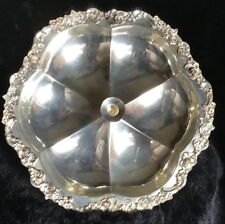 Mid-Cent. Sheridan Silver Co Silverplate Lazy Susan with Candle Holder in Center