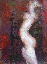 Guy-Max HIRI (1928-1999) HsT 1989 Nu Nle Ecole de Paris Jeune Peinture Fauvisme