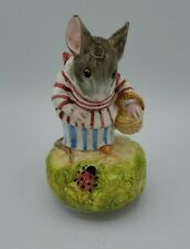 Schmid Beatrix Potter Musical Mrs Tittle Mouse Music Box play It's A Small World