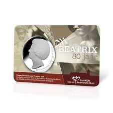 PRINSES BEATRIX 80 Jahre ~ Orginale CoinCard von KNM Niederlände