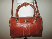 MARINO ORLANDI ITALY GENUINE LEATHER SHOULDER BAG HANDBAG PURSE MESSENGER CROSS