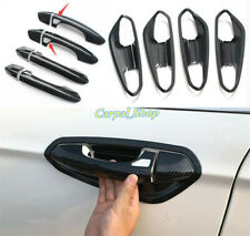 For 2013-2020 Ford Fusion Mondeo Carbon Fiber Look Door Handle Bowl Cover Trim