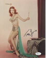 TINA LOUISE HAND SIGNED 8x10 COLOR PHOTO    GORGEOUS+SEXY POSE AS REDHEAD    JSA