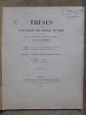 THESE SCIENCES.E.MATHIAS.SUR LA CHALEUR DE VAPORISATION DES GAZ LIQUEFIES+ Envoi