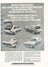1972 AMC Sportabout Hornet  Javelin - Classic Vintage Advertisement M3113-H83