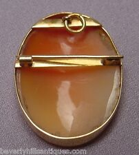 Beautiful Antique 14k Gold Cameo Pendant/Brooch