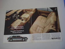 advertising Pubblicità 1986 RENAULT 25 TURBO DIESEL TD