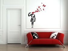 WALL - Banksy Style - Suicide Butterflies - Wall Vinyl Decal