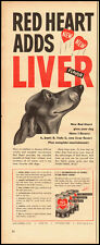 1950 Vintage ad for Red Heart Dog Food/Dashund Dog in ad (022513)
