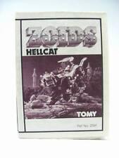Zoids Zoid Vintage OER Instruction Sheet Fiche HELLCAT Original