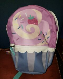"13"" Cupcake Design Backpack Bookbag Decor Novelty Fun"
