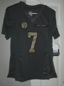 Nike - BEN ROETHLISBERGER Pittsburgh Steelers SALUTE TO SERVICE Women's Jersey L
