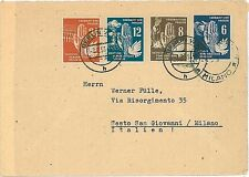 GERMANY DDR -  POSTAL HISTORY:   COVER to ITALY - 1951 - BIRDS / DOVES / PICASSO