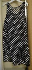 Ladies Sleeveless Swimwear Bikini Cover Up Beach Dress Sheer polka dot bust 36