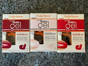 1 Sally Hansen Salon Insta Gel Strips Gel Manicure Starter Kit Choose Your Color