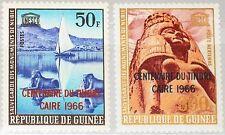GUINEA 1966 357-58 415 C82 Cent. 1st egyption Postage Stamp ovp UNESCO Art MNH