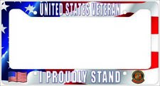 VETERAN US Marines - I PROUDLY STAND License Plate Frame