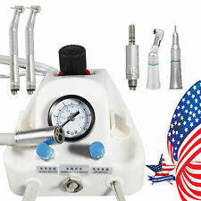 Dental Portable Air Turbine Unit Work To Compressor High Low Speed Kit 4 Holes
