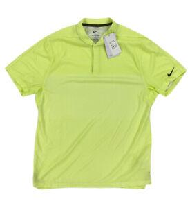 NEW Nike x Tiger Woods ADV SAMPLE Dri-Fit Golf Blade Polo Shirt Yellow Mens Sz M