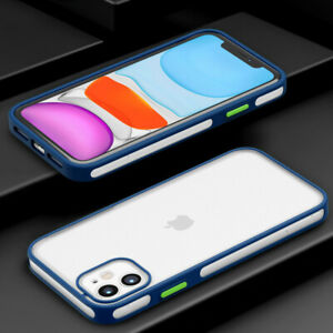 Shockproof Matte Clear Phone Case For iPhone 12 Pro Max 11 XS XR 7 8 Plus Cover
