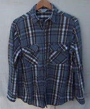 CARHARTT - Men's Rugged Outdoor Wear Button Front Plaid Flannel Shirt -- Size S