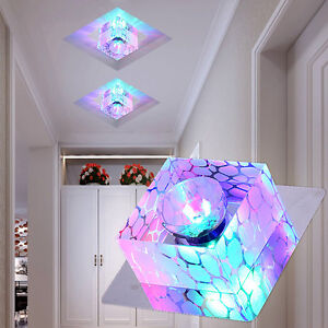 3W 5W LED Modern Colorful Crystal Ceiling Lamp Light Bedroom Lighting Fixture