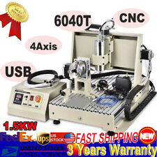 New Listingusb 4axis 6040 Gravingmill Engraver Machine 3d Cutter Cnc Router Drilling Vfd S