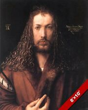 MASTER GERMAN ARTIST ALBRECHT DURER SELF PORTRAIT PAINTING ART REAL CANVAS PRINT