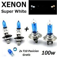 Lampadine H7+H1 Alogene  Effetto Xenon Super Bianca Ultra Bianco 100W/12V 6000K
