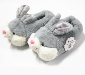 Winter Cotton Slippers Thermal Women Warm Cute Plush Cartoon Bunny Indoor Shoes