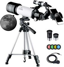 Maxlapter Kids Telescope For Adults Astronomy Beginners, 70Mm Travel Refractor T
