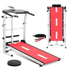 New listing Manual Folding Treadmill Working Machine Cardio Fitness Exercise Incline Home