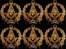 Masonic Collar Grand Past Master WREATH Jewel GOLDEN Freemason Mason 6PCS
