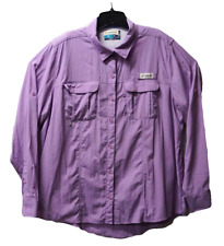 Magellan Fish Gear Mag Wick Womens Purple 2XL XXL Angler Fit Vented Blouse Top