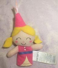 Carter's Finger Puppet Princess Pink Hat Dress Blonde