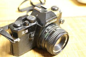 Mamiya ZE Spiegelreflex SLR Analog Kamera mit Objektiv Mamiya Sekor 50mm 1.2