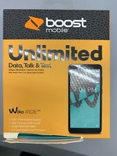 "New & Sealed Boost Mobile - Prepaid - Wiko RIDE - 5.45"" Touchscreen 16GB 5MP"