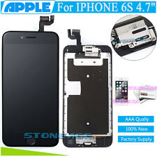 """OEM For iphone 6S 4.7""""Black LCD Touch Screen Digitizer Replacement+Button+Camera"""