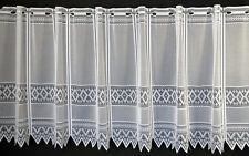 Scheibengardine Jacquard grafisch 60x13 Weiß Gardine nach Maß