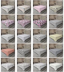 Ambesonne Geometric Funky Flat Sheet Top Sheet Decorative Bedding 6 Sizes